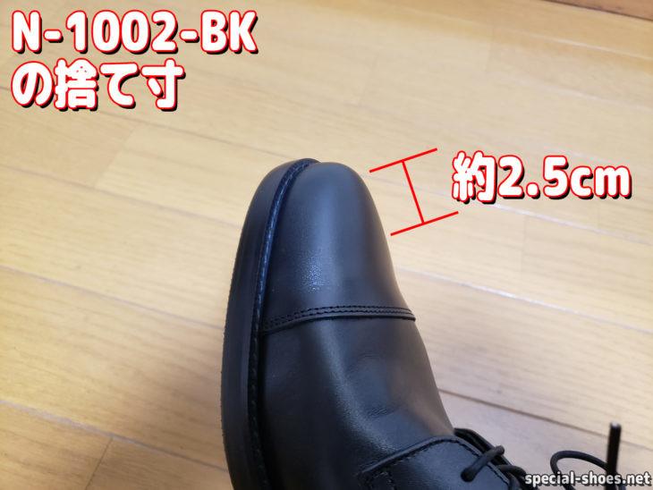 AIR'S風の靴N-1002-BKの捨て寸